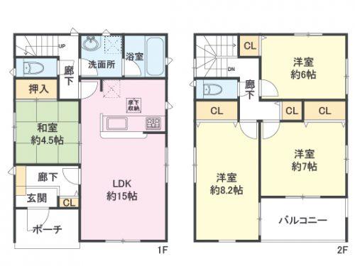 1号棟間取り図 4LDK(間取)