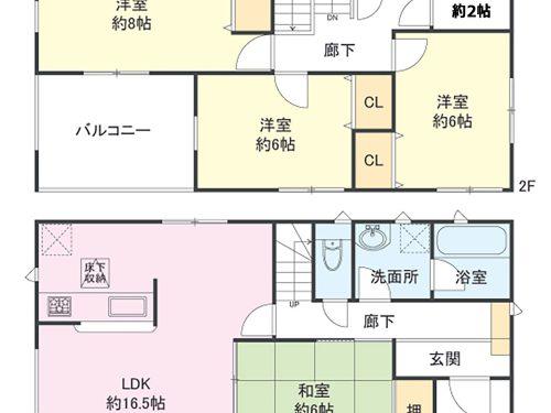8号棟間取り図 4SLDK テレワークルームあり♪(間取)