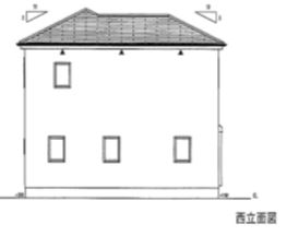 西立面図(外観)