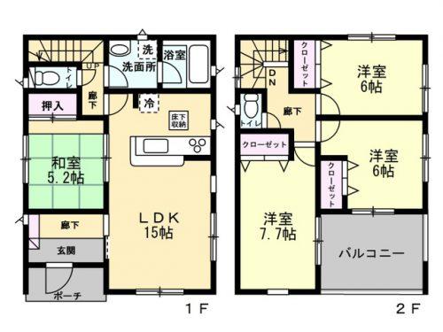 3号棟間取り図 4LDK(間取)