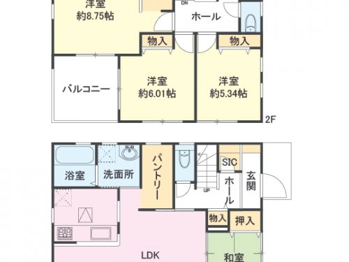 1号棟 間取り図 4SLDK(間取)