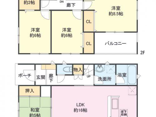 4号棟 間取り図 4LDK(間取)