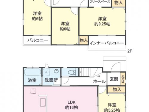 2号棟 間取り図 4LDK+S(納戸)(間取)