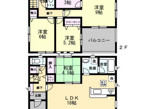 1号棟間取り図 4SLDK(間取)
