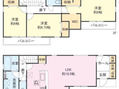 2号棟間取り図 3LDK(間取)