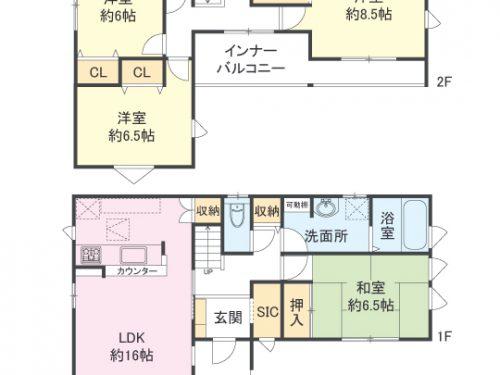 2号棟間取り図 4LDK(間取)