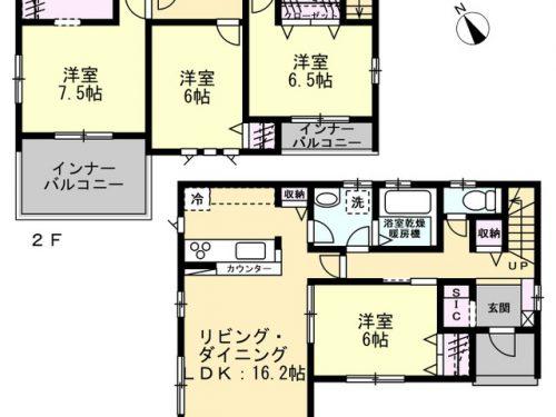 1号棟 間取り図 4LDK(間取)