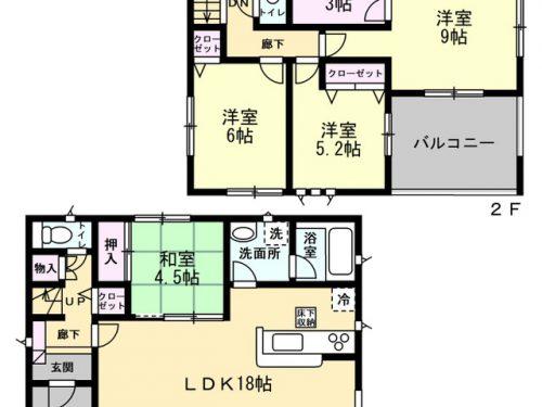 2号棟 間取り図 4SLDK(間取)