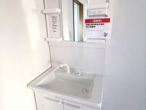 洗髪洗面化粧台です♪収納スペースもあるので 散らかりがちな洗面台も スッキリ使えます。