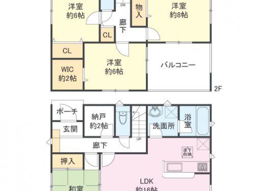 3号棟間取り図 4SLDK(間取)