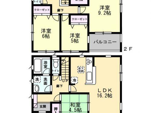 2号棟間取り図 4SLDK(間取)