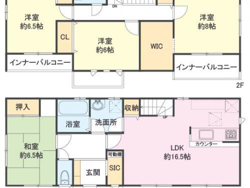 2号棟 間取り図 4LDK(間取)