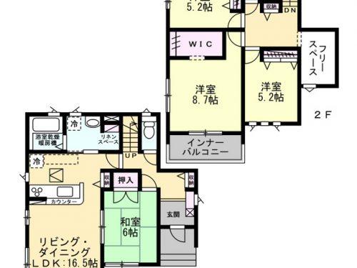 3号棟 間取り図 4SLDK(間取)