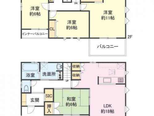 5号棟 間取り図 4LDK(間取)