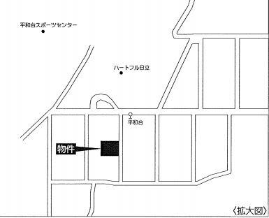 現地案内図(拡大図)(地図)