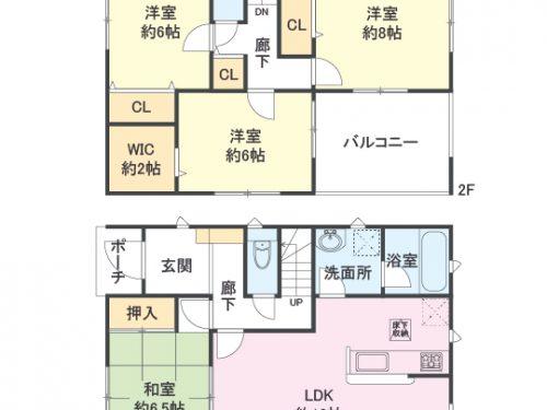3号棟 間取り図 4LDK(間取)